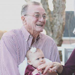 Grandpa and baby.